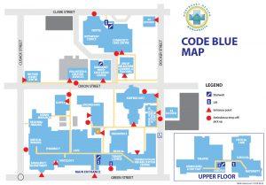 Code blue map